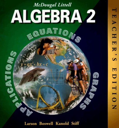 9780395978900: McDougal Littell Algebra 2, Teacher's Edition