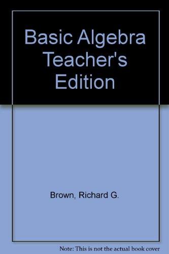 9780395980033: Basic Algebra Teacher's Edition