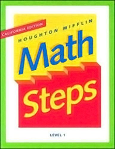 Houghton Mifflin Math Steps: Student Edition Level 1 2000: HOUGHTON MIFFLIN
