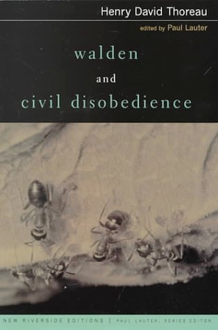 9780395980774: Walden and Civil Disobedience (Riverside Editions, A125)
