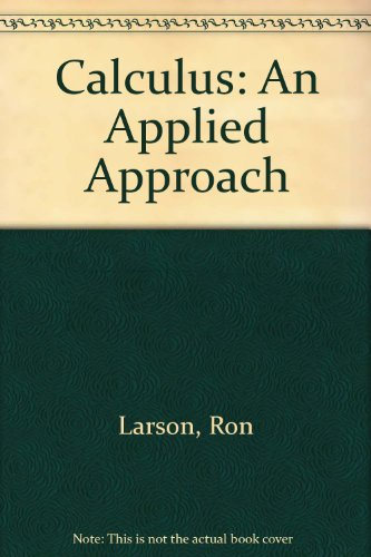 9780395982174: Calculus: An Applied Approach