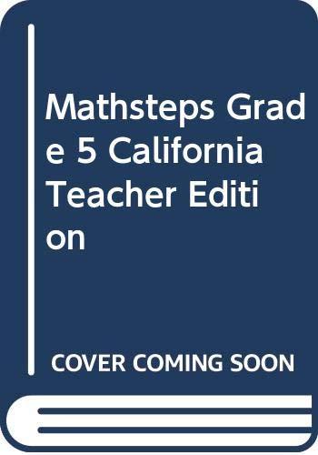 9780395982983: Mathsteps Grade 5 California Teacher Edition