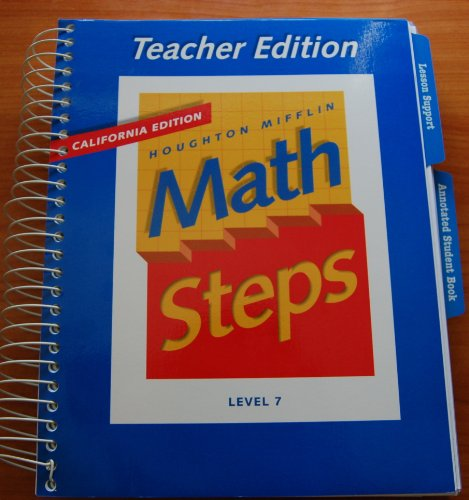 9780395983003: Houghton Mifflin Math Steps Teacher's Edition: Grade 7, Ca Edition