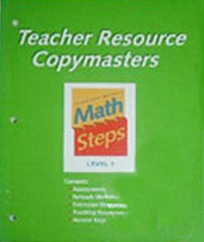 9780395983027: Math Steps: Teacher's Resource Copymasters Grade 1