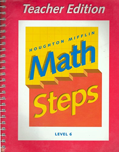 9780395985465: Houghton Mifflin Math Steps, Level 6, Teachers Edition