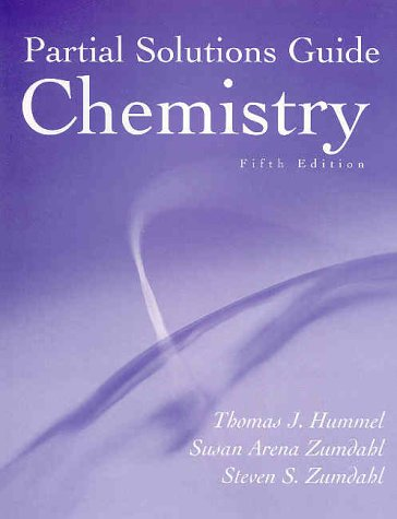 9780395985885: Chemistry, 5th edition (Partial Solutions Guide)