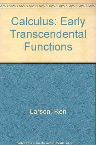 9780395986639: Calculus: Early Transcendental Functions