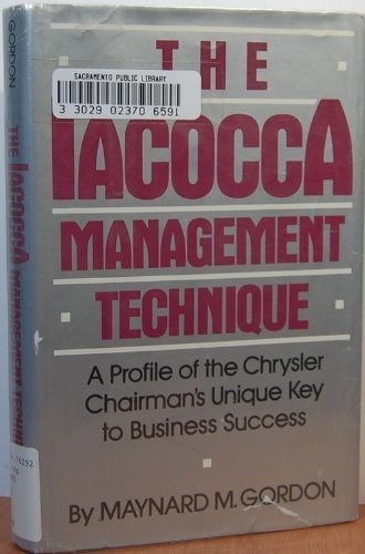 9780396084945: The Iacocca Management Technique