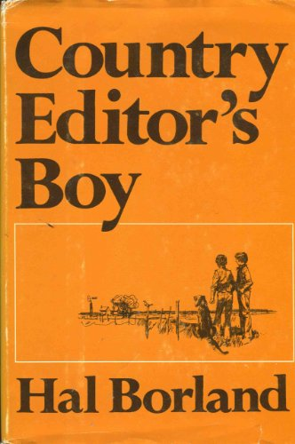9780397006403: Country Editor's Boy