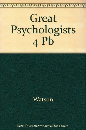 9780397473755: Great Psychologists 4 Pb