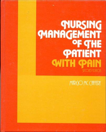 9780397543243: Nurs Manage Patient Pain 2e CB
