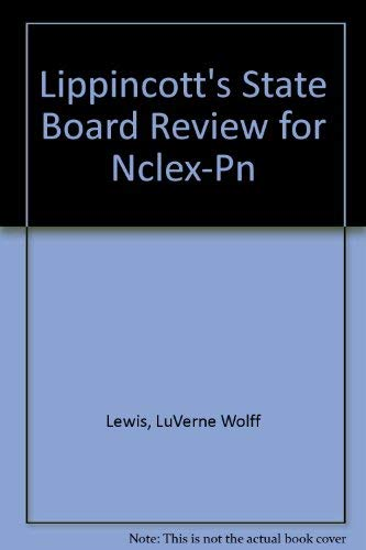 9780397547531: Lippincott's State Board Review for Nclex-Pn