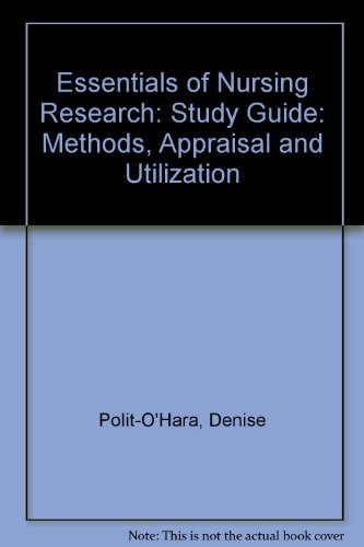 9780397549238: Study Guide for Essentials of Nursing Research