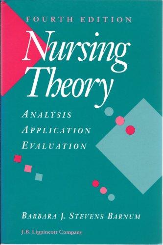 9780397549429: Nursing Theory: Analysis, Application, Evaluation