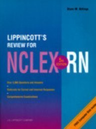 9780397550586: Lippincott's Review for Nclex-Rn/Book and Disk