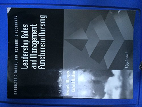 9780397553235: Instructor's Manual and Testbank to Accompany