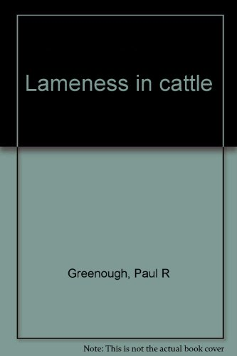 9780397581160: Lameness in cattle