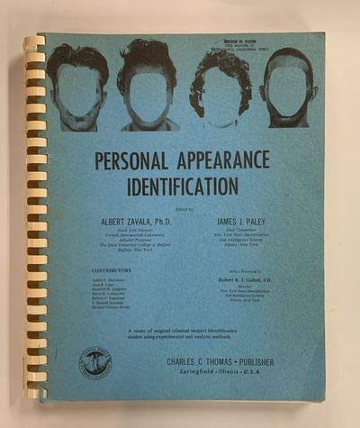 9780398024475: Personal Appearance Identification