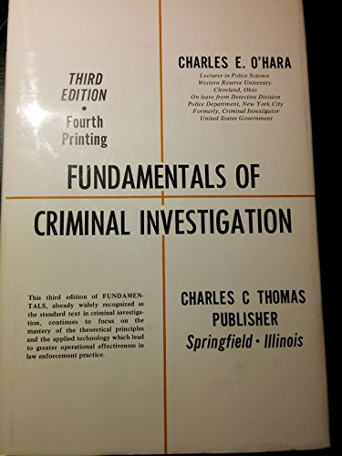 9780398028633: Title: Fundamentals of criminal investigation