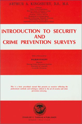 9780398028930: Introduction to Security and Crime Prevention Surveys