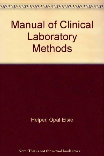 9780398030575: Manual of Clinical Laboratory Methods