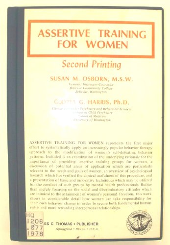 Assertive Training for Women: Osborn, Susan M.