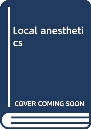 9780398036119: Local anesthetics