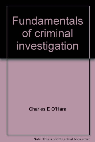 9780398040000: Title: Fundamentals of Criminal Investigation