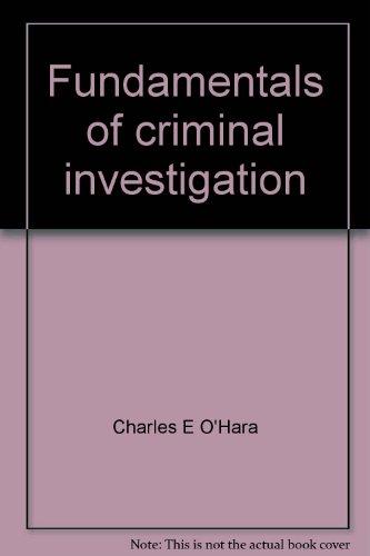 9780398040000: Fundamentals of Criminal Investigation