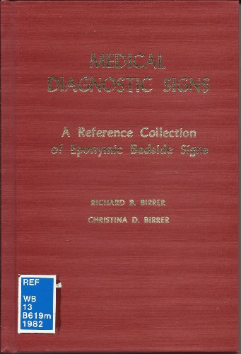 9780398045418: Medical Diagnostic Signs: A Reference Collection of Eponymic Bedside Signs