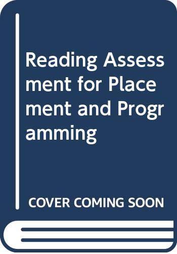 Reading Assessment for Placement and Programming: Lesiak, Judi, Bradley-Johnson,
