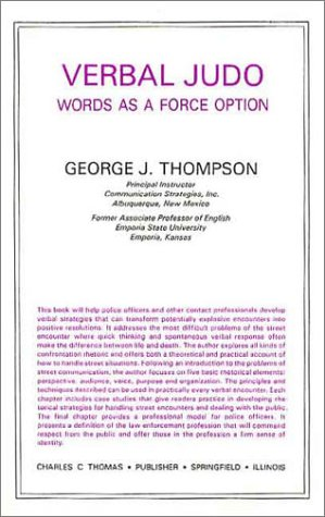 9780398048792: Verbal Judo : Words As a Force Option (American lecture series)