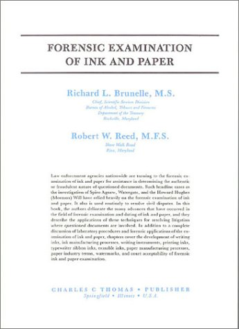 9780398049355: Forensic Examination of Ink and Paper