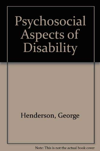 9780398050061: Psychosocial Aspects of Disability