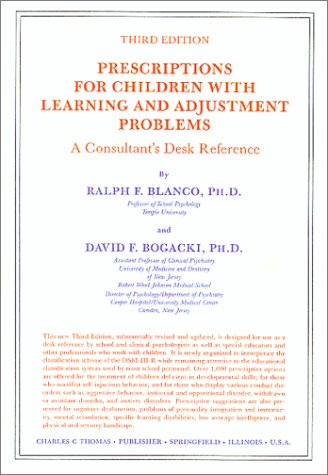 9780398053901: Prescriptions for Children With Learning and Adjustment Problems: A Consultant's Desk Reference