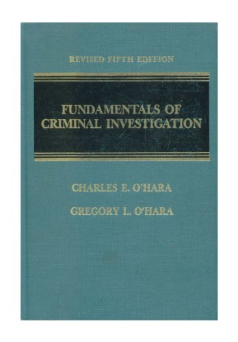 9780398054601: Title: Fundamentals of criminal investigation