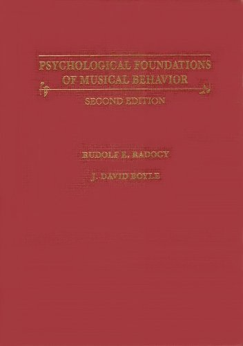 9780398055141: Psychological Foundations of Musical Behavior (2nd Edition 1988)