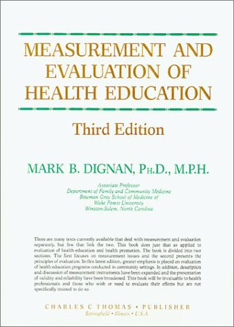 9780398059583: Measurement and Evaluation of Health Education