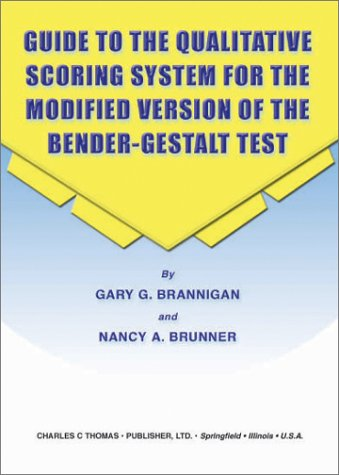 9780398073121: Guide to the Qualitative Scoring System for the Modified Version of the Bender-Gestalt Test