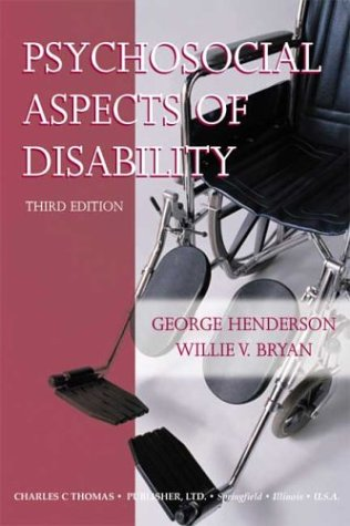 9780398074876: Psychosocial Aspects of Disability