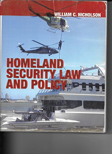 9780398075835: Homeland Security Law And Policy