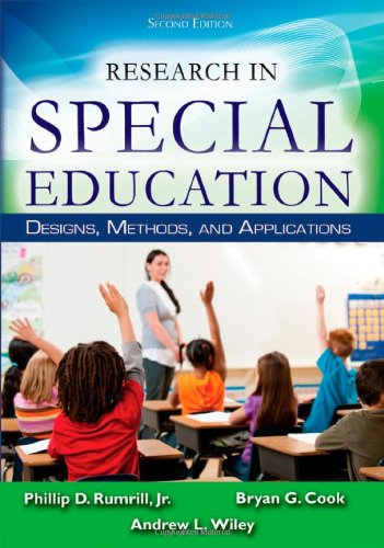 9780398086046: Research in Special Education: Designs, Methods, and Applications