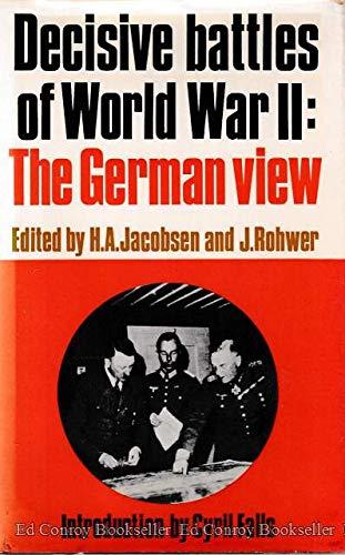 9780399102011: Decisive Battles of World War II: The German View