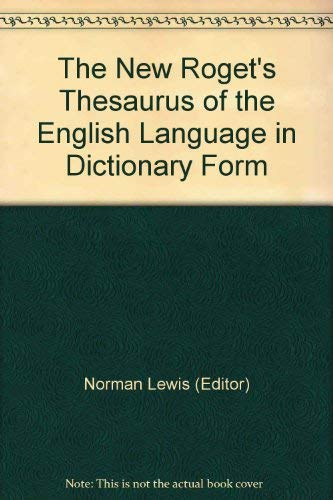9780399105753: The New Roget's Thesaurus of the English Language in Dictionary Form