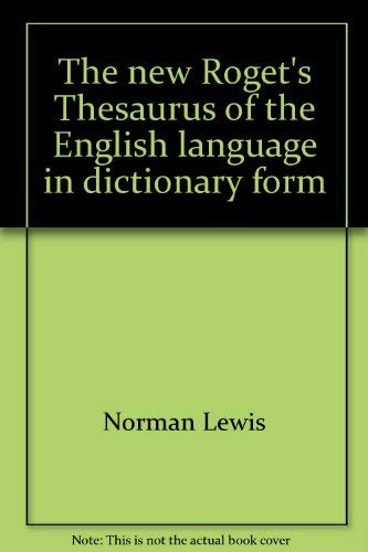 The New Roget's Thesaurus of the English: C. O. Sylvester