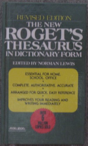 9780399126789: The New Roget's Thesaurus of the English Language in Dictionary Form
