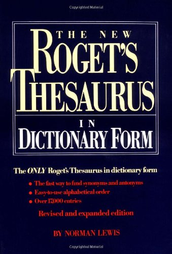 The New roget's thesaurus in dictionary form (thumb-indexed) (0399126791) by Norman Lewis
