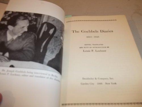 9780399127632: The Goebbels Diaries 1939-1941