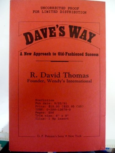 9780399136788: Dave's Way