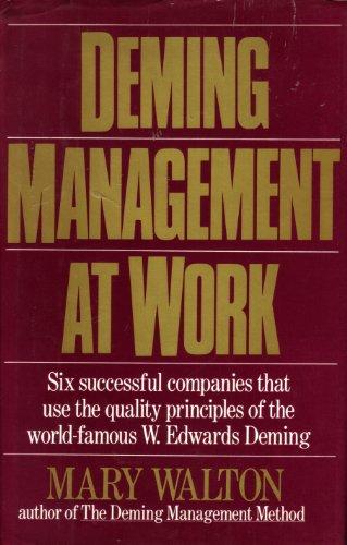 9780399137532: Deming Management at Work